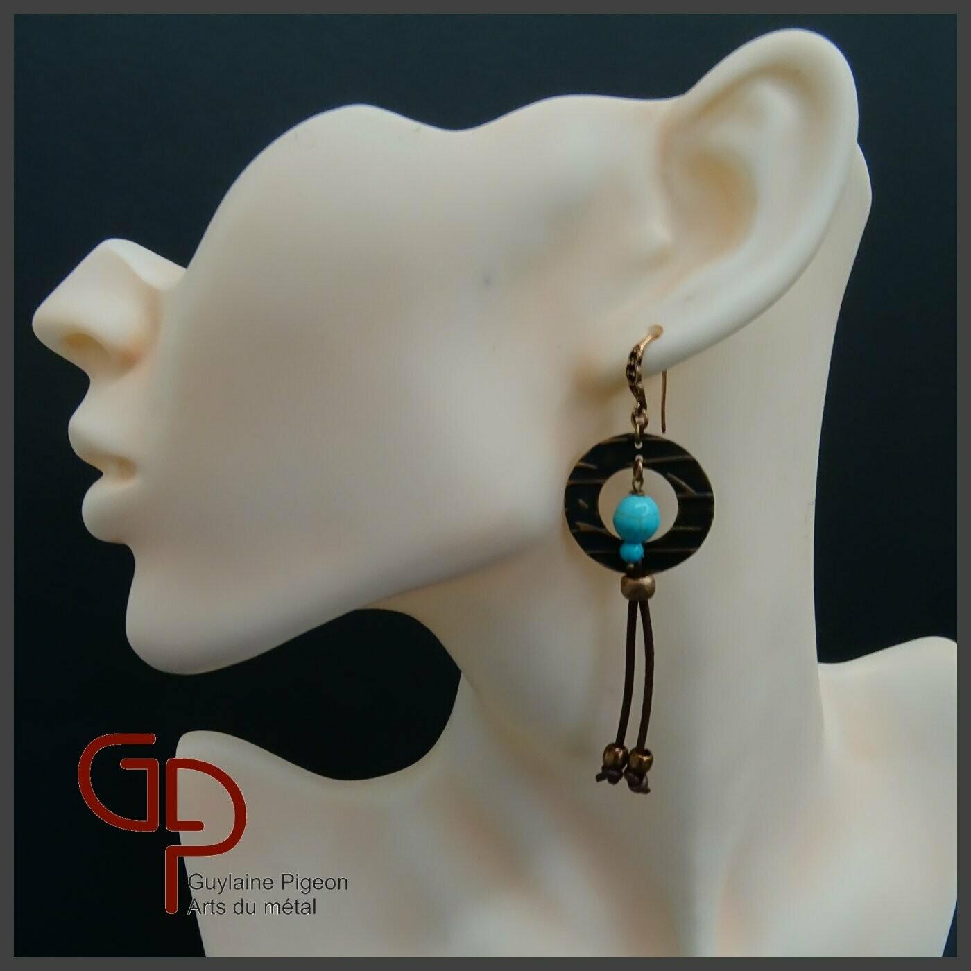 Boucles d'oreilles cuivre #5