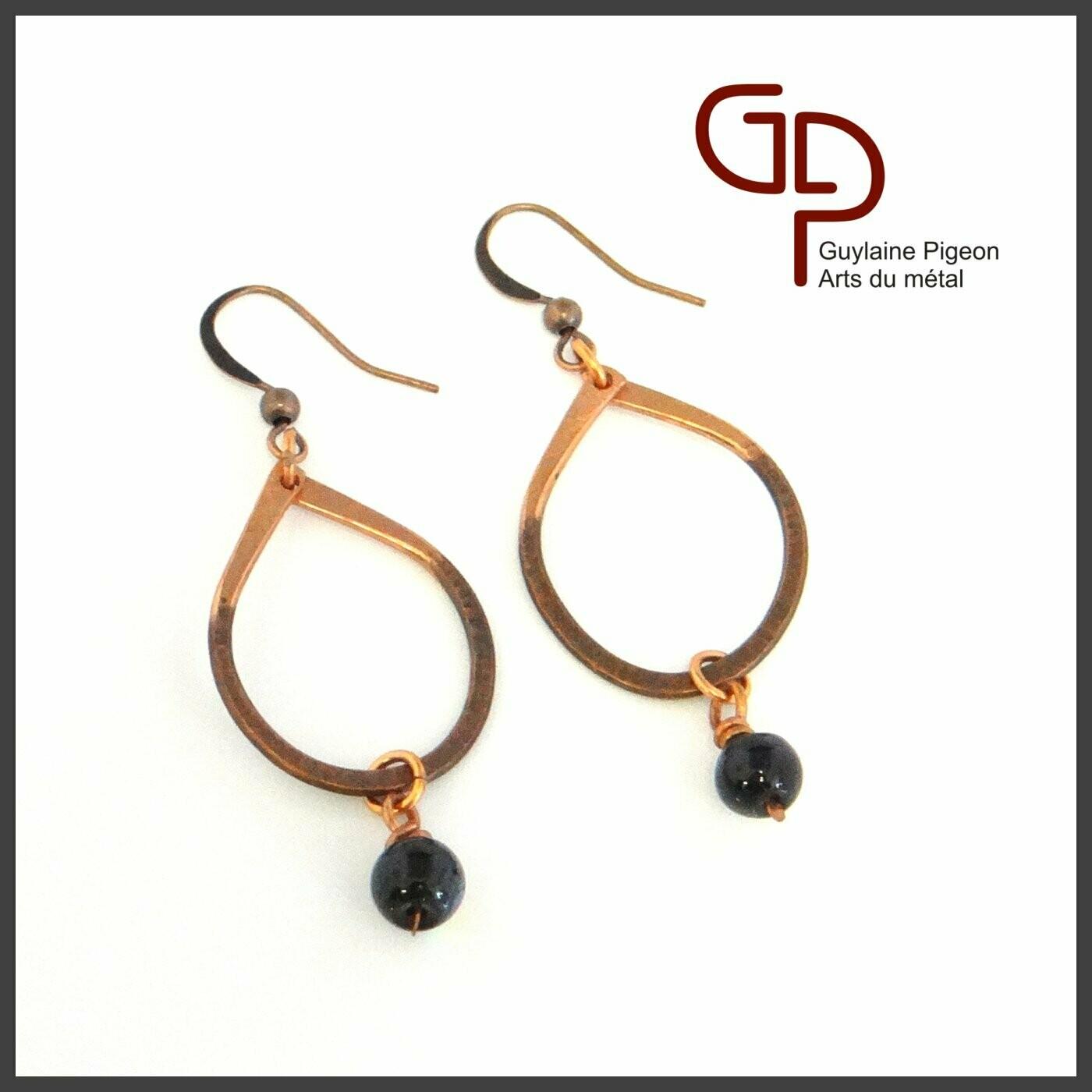 Boucles d'oreilles cuivre #1