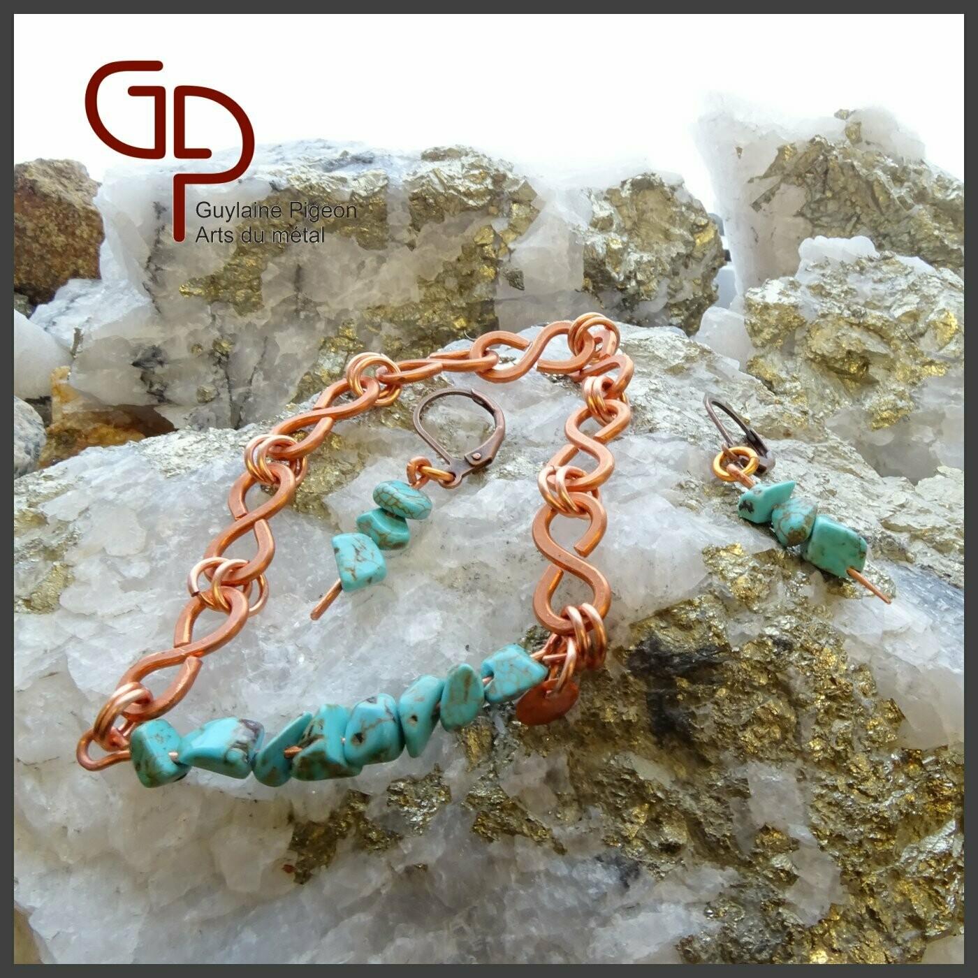 Bracelet éternité magnésite