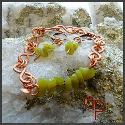 Bracelet éternité jaspe