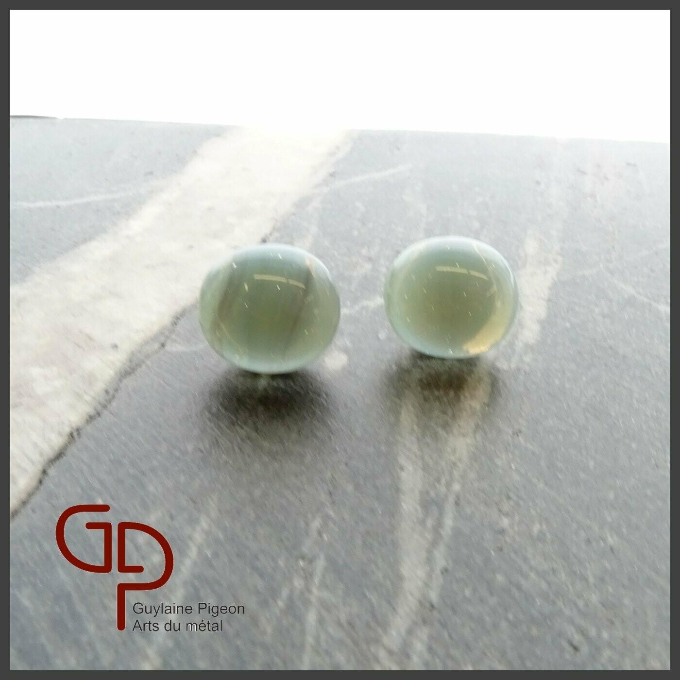 Boucles d'oreilles verre #22