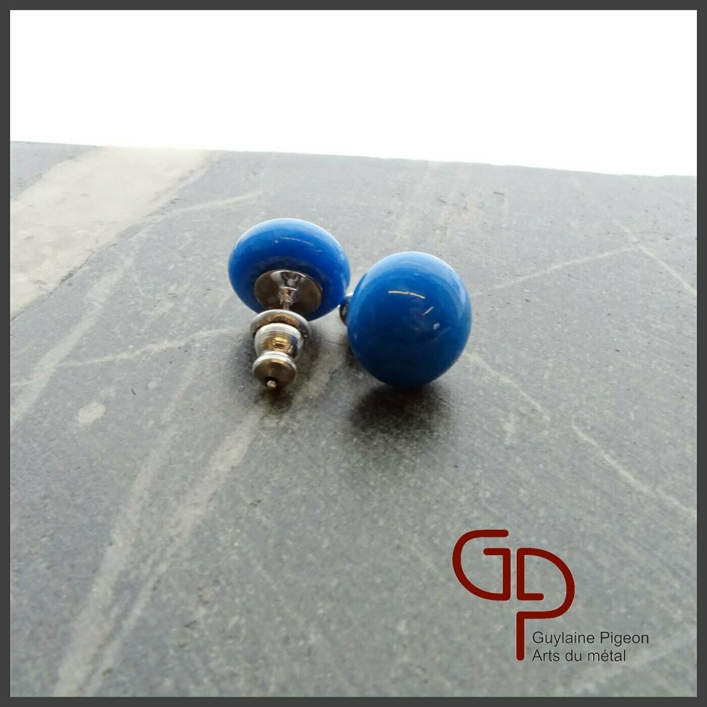 Boucles d'oreilles verre #18