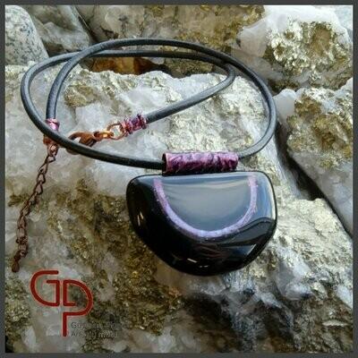 Collier verre fusion #4