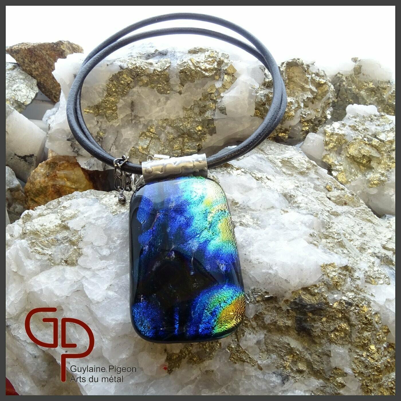 Collier verre fusion #43