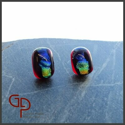 Boucles d'oreilles verre #4