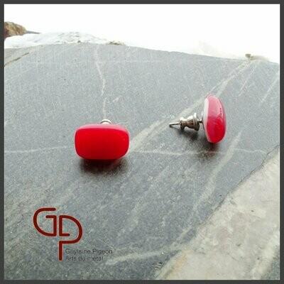 Boucles d'oreilles verre #10
