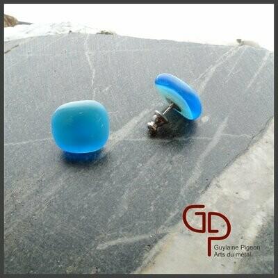 Boucles d'oreilles verre #8