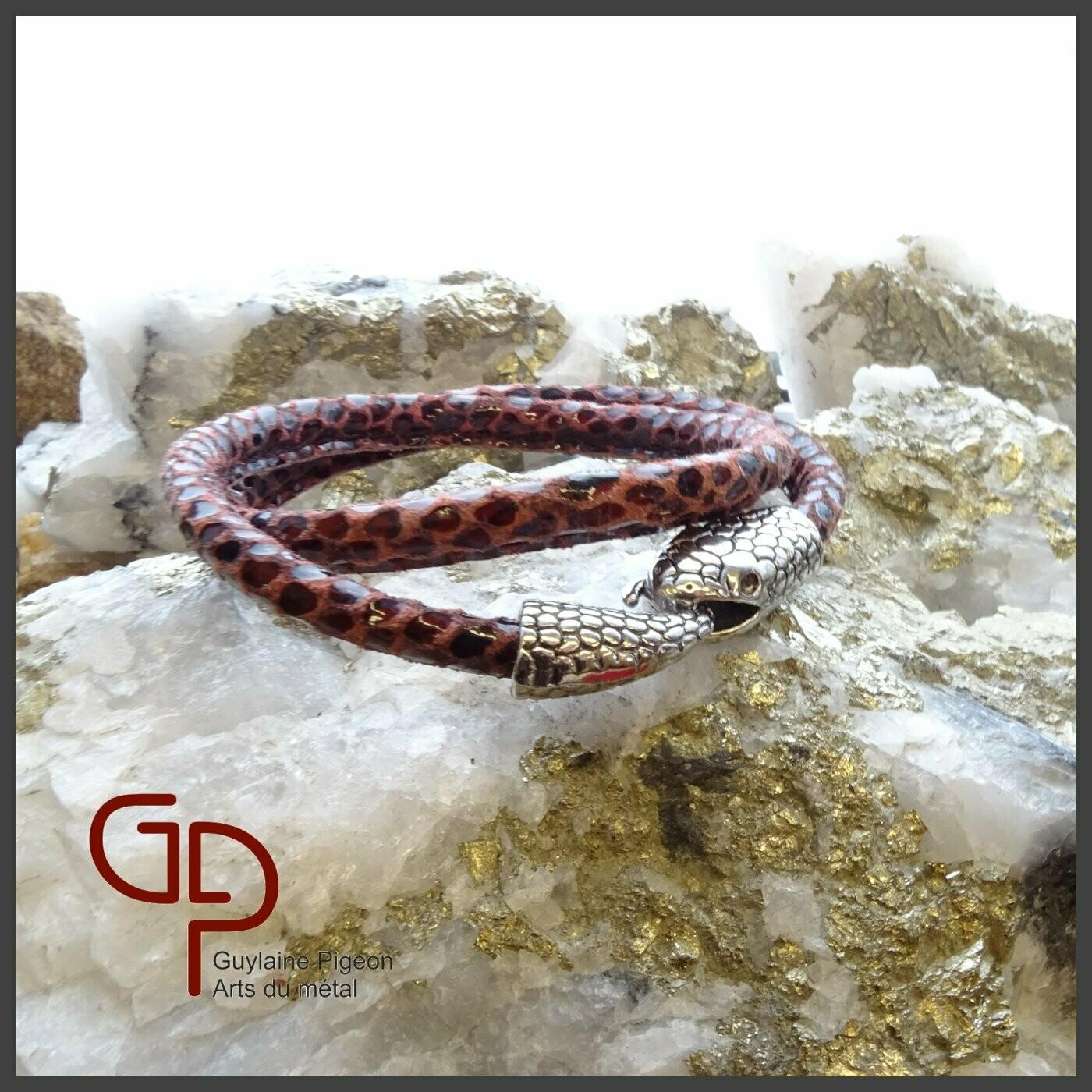 Bracelet serpent en cuir #1