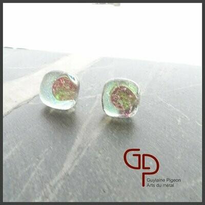 Boucles d'oreilles verre #19