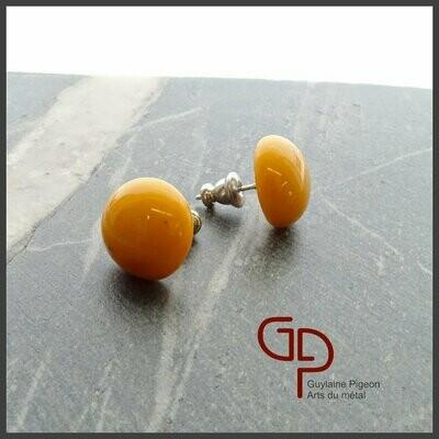 Boucles d'oreilles verre #14