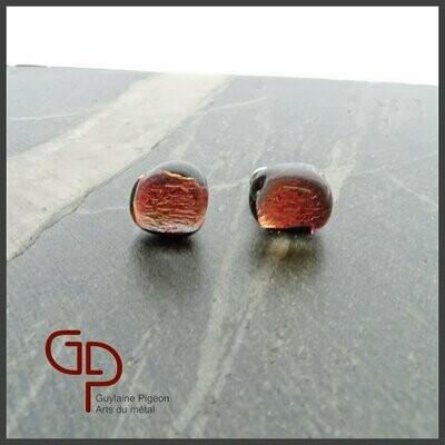 Boucles d'oreilles verre #16