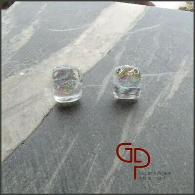 Boucles d'oreilles verre #32