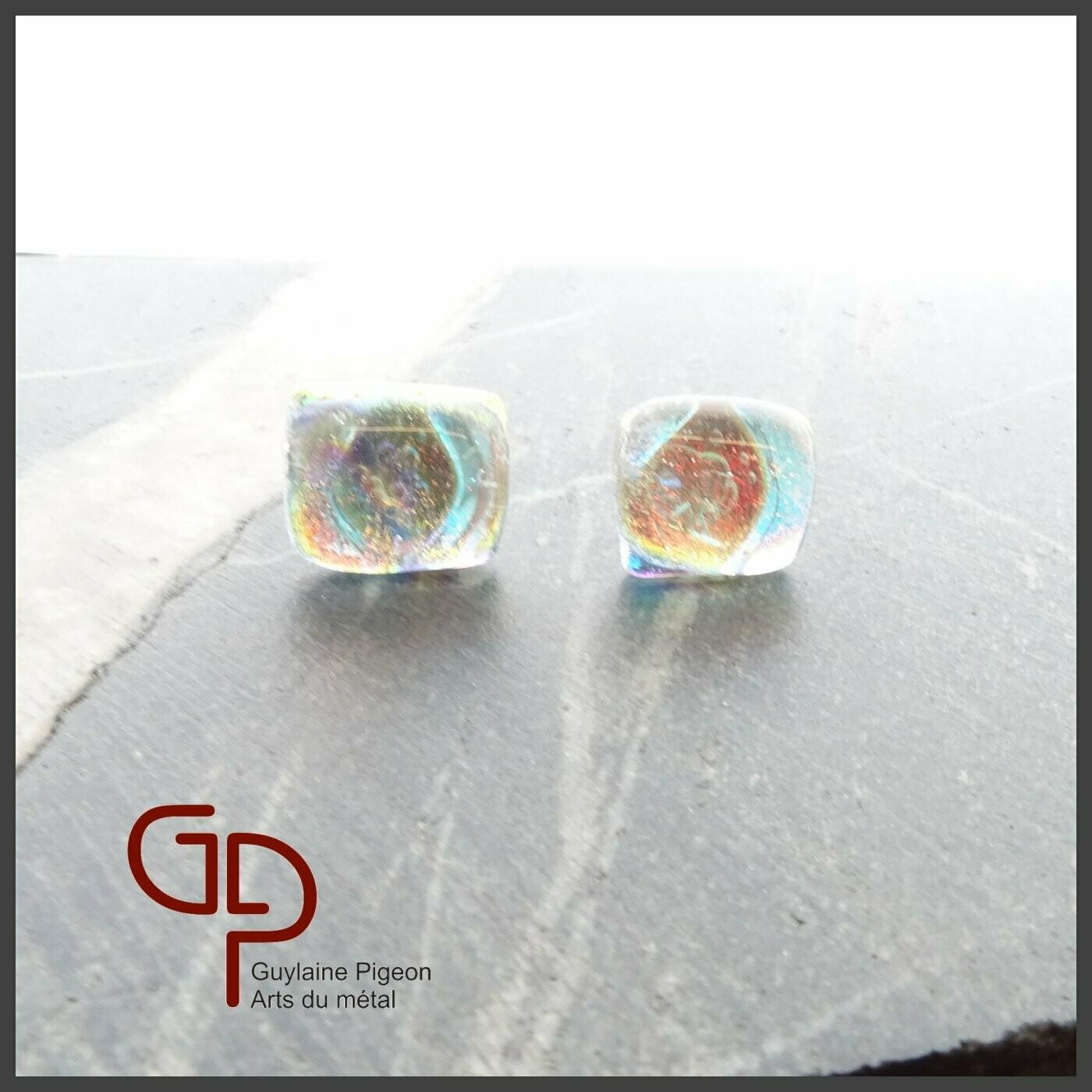 Boucles d'oreilles verre #21