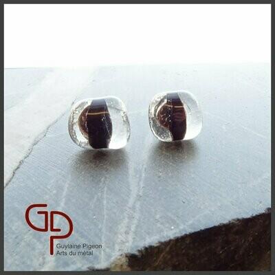 Boucles d'oreilles verre #24