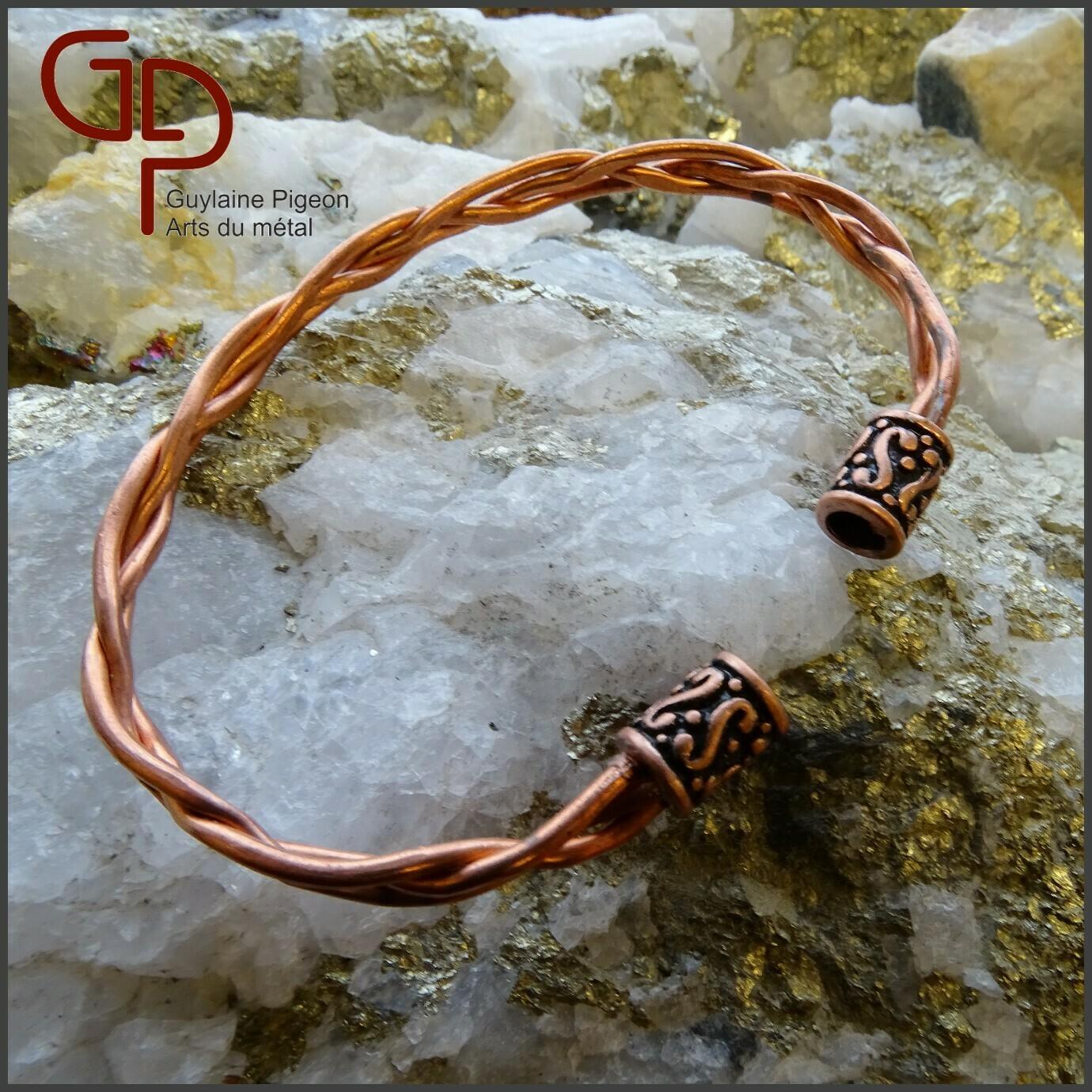 Bracelet cuivre tressé #2