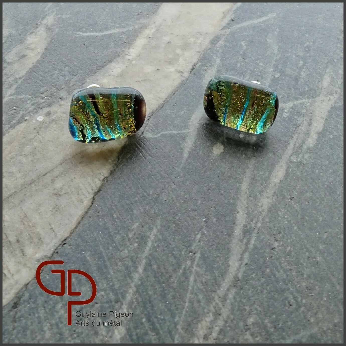 Boucles d'oreilles verre #33