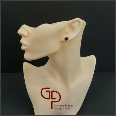 Boucles d'oreilles verre #38
