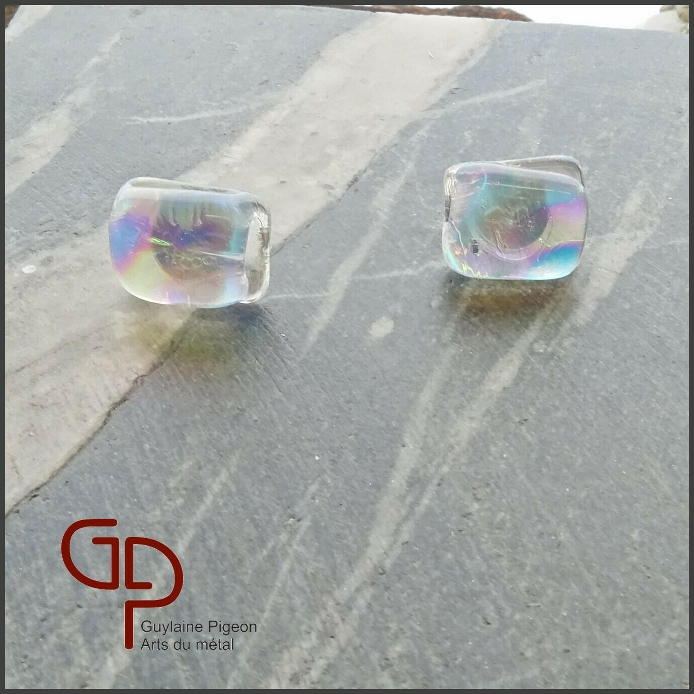 Boucles d'oreilles verre #36