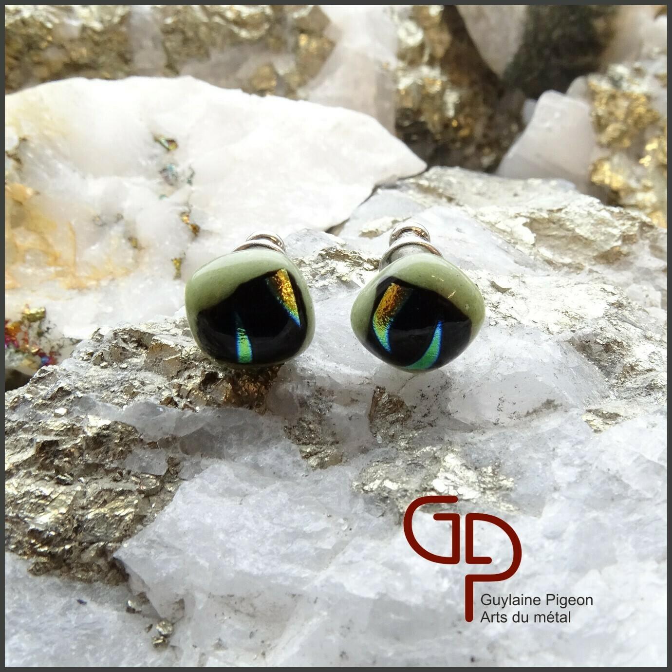 Boucles d'oreilles verre #49