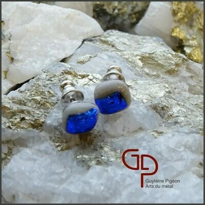 Boucles d'oreilles verre #46