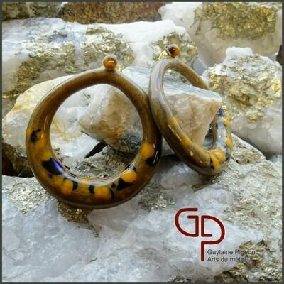 Boucles d'oreilles verre #50