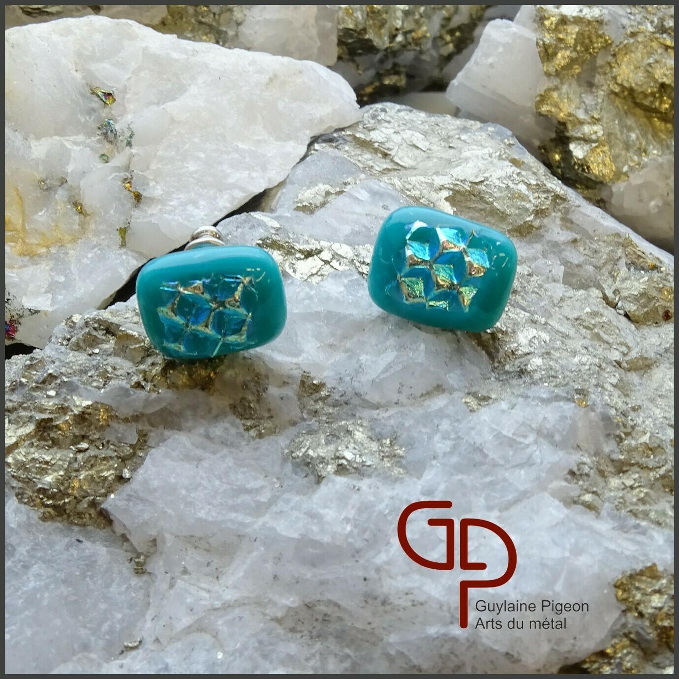 Boucles d'oreilles verre #44