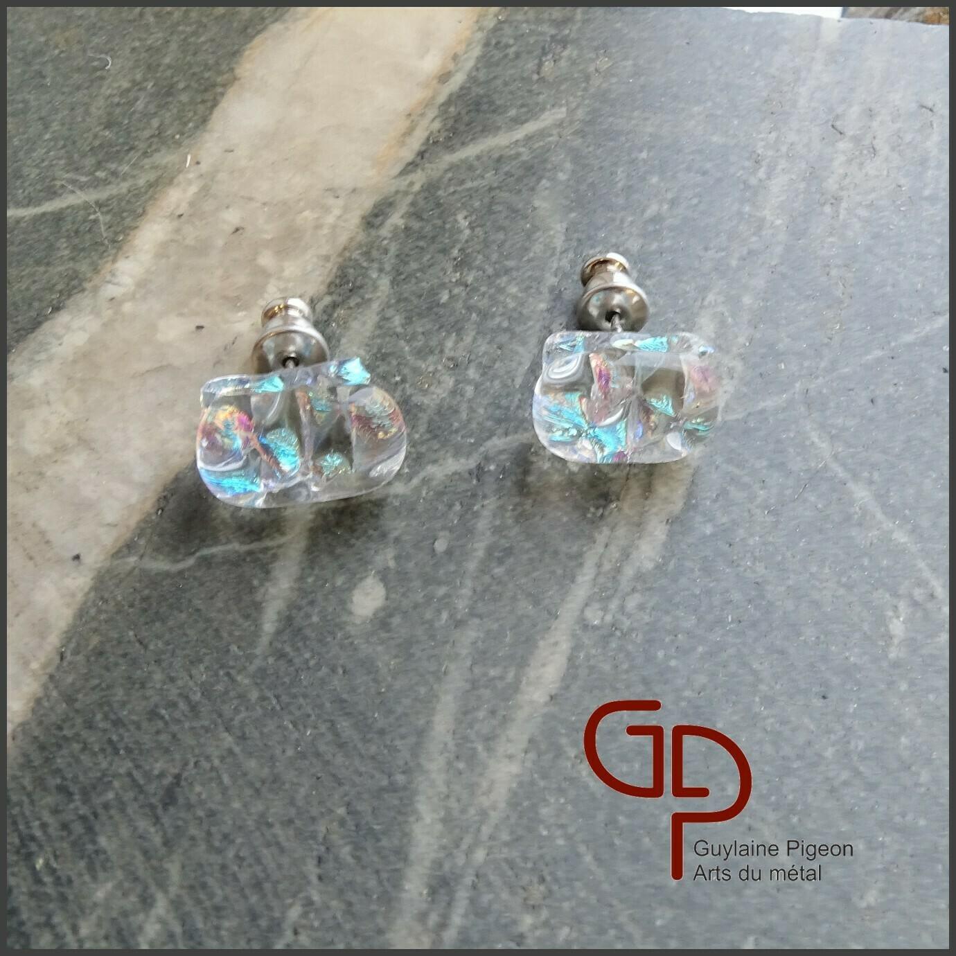 Boucles d'oreilles verre #43
