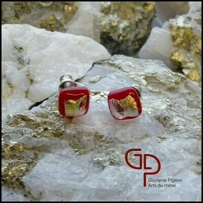 Boucles d'oreilles verre #47