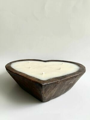 Wooden Heart Dough Bowl