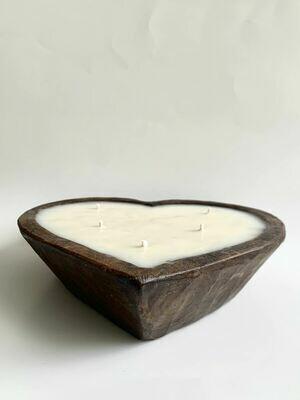 Wooden Heart Dough Bowl