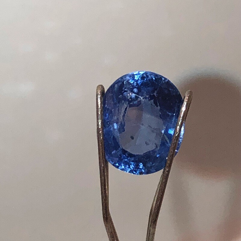 Blue Sapphire Certified By EGL - NY, 2.08 act Oval Mixed Cut With Very Nice Color And Clarity.  7.94 X 6.50 X 4.41 MM.