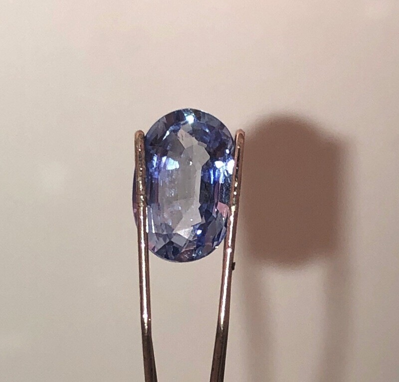 Blue Sapphire Certified By EGL - USA. Very Nice Light Blue (Steele) 1.14 ct Oval Cut Sapphire.