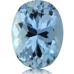 Aquamarine 1.37 ct, Very Nice Blue Color.