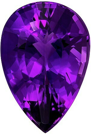 Natural Amethyst, 28.48 ct Lovely Blueish Purple With Red Undertones.