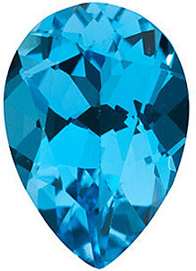 Natural Blue Topaz, Opening Special Pear Cut, Weight Between 1 ct and 1.5 ct. $7.00 Each