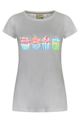 Watercolour Cupcake T-Shirt
