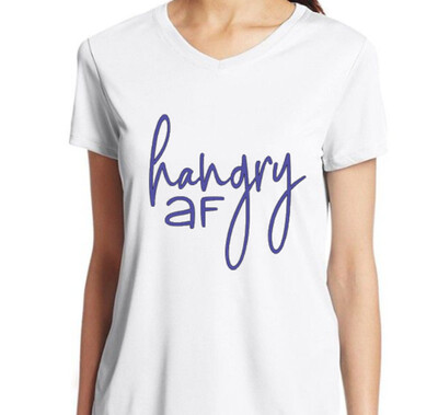 Hangry AF Ladies White T-Shirt