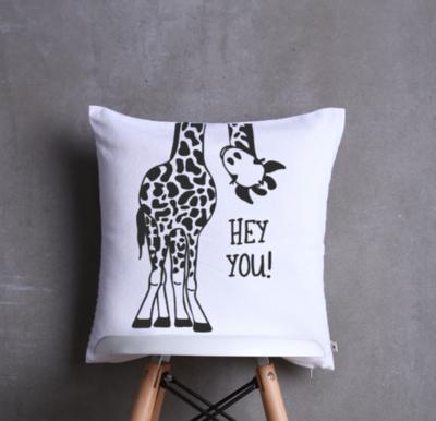 Hey You Giraffe Cushion Cover