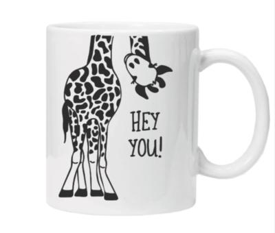 Hey You! Giraffe Mug