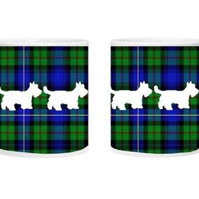 Exclusive Westie/Scotty Dog Tartan Mug