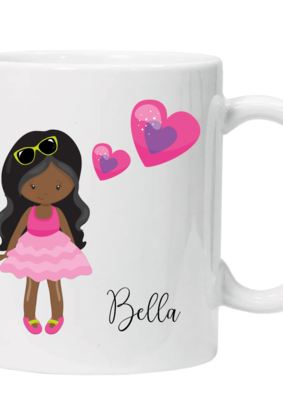 Glamsquad - Girl with lovehearts - Personalised