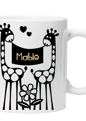 Giraffe Mug - Personalised