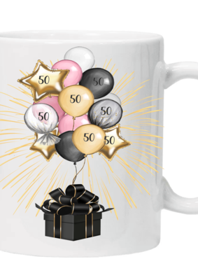 Glamsquad -  50th Birthday Mug - numbers can be changed