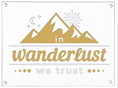In Wanderlust We Trust Chopping Board