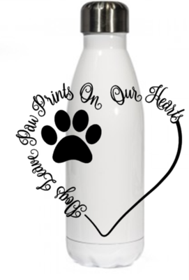 Dogs Leave Pawprints Thermal Bottle