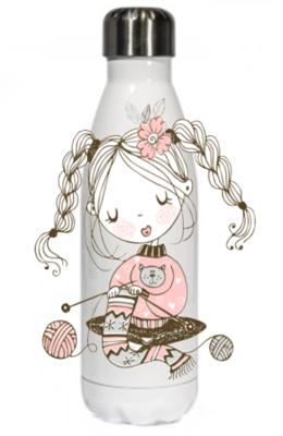 Happy Knitter Thermal Bottle