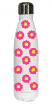 Pink Flower Thermal Bottle