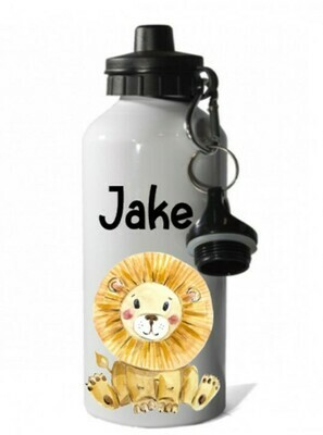 Safari Animal Personalised Water Bottle