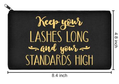 Long Lashes & High Standards Make Up Bag