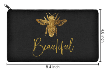 Beautiful Bee Make Up Bag